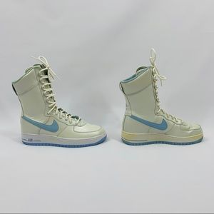 Nike Shoes - Nike Air Force 1 High Top In Ice Blue